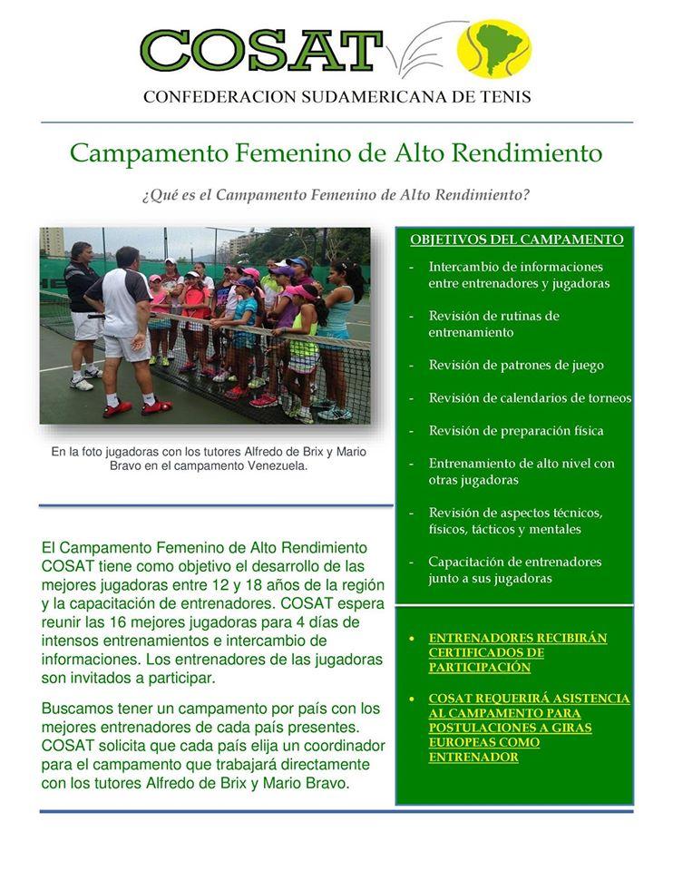 CAMPAMENTOS FEMENINOS DE ALTO RENDIMIENTO