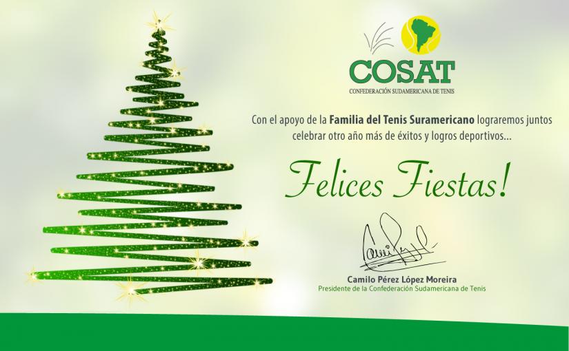 COSAT DESEA FELICES FIESTAS A TODOS!