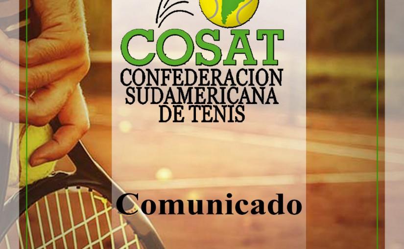 COMUNICADO COSAT: EXTENSIÓN DE SUSPENSIÓN PREVENTIVA DE TODAS SUS COMPETENCIAS